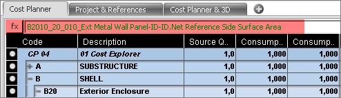 Cost Planner Formula Editor